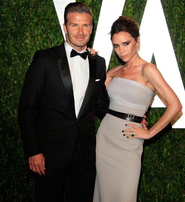 David ja Victoria Beckham ottivat vapaa-illan lastenhoidosta.