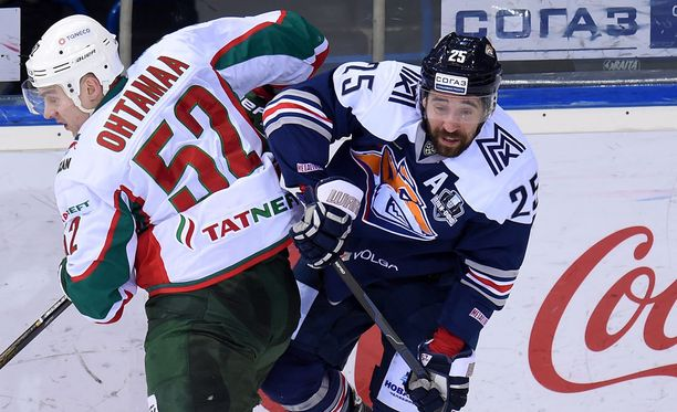 Atte Ohtamaa ja Danis Zaripov kohtasivat viime kaudella KHL:n välierissä.