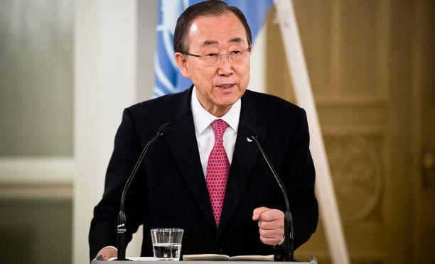 YK:n pääsihteeri Ban Ki-moon.