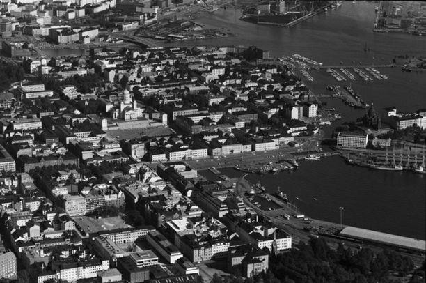 Tältä näytti Helsinki pienlentokoneesta vuonna 1970.