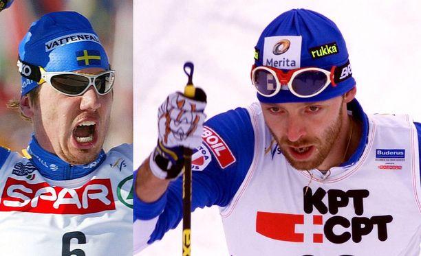 Per Olofsson ja Mika Myllylä olivat vuosituhannen taitteessa kovia kilpakumppaneita.