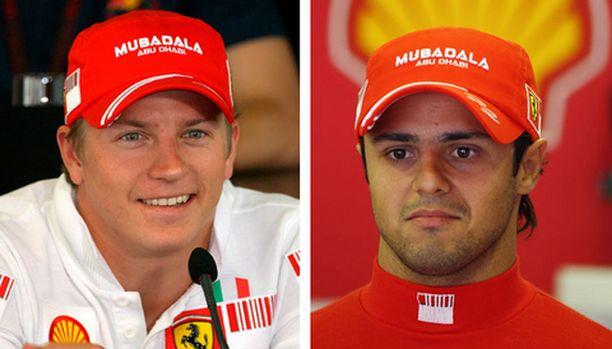 Kimi Räikkönen ja Felipe Massa ovat hyvää pataa keskenään.