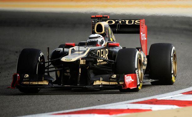 Kimi Räikkösen Lotus kulki Bahrainin gp:ssä.