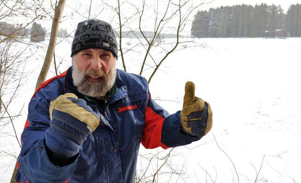 Juha Mieto riemastui hotellinjohtajan mämmiylläristä Levillä.