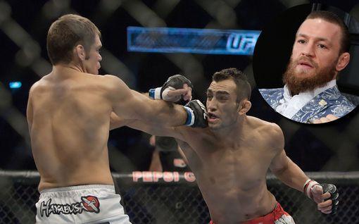 """Kuvat: UFC-tähti teki todella rajun painonpudotuksen, vaikka ottelu peruttiin – Conor McGregor sivalsi välittömästi: """"Hakkaan atomeiksi"""""""