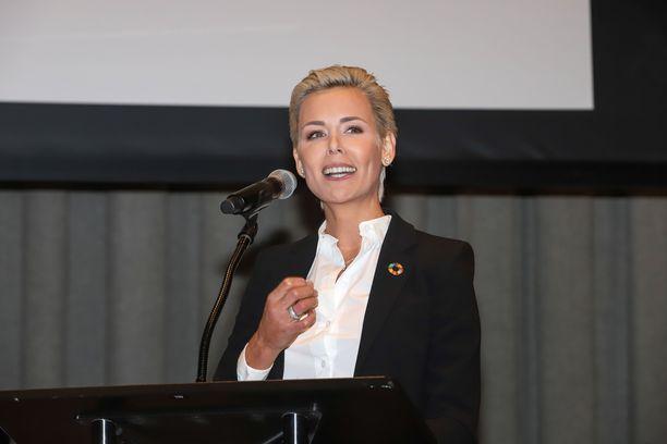 Gunhild Stordalen sai ilmastotyöstään palkinnon New Yorkissa.