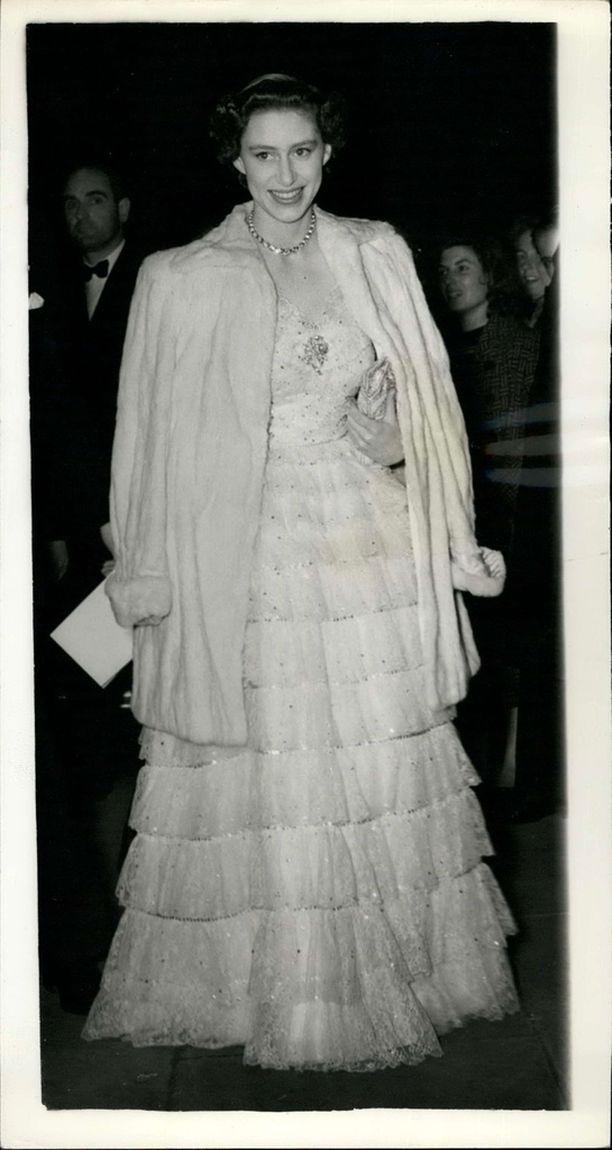 Prinsessan tyyli on pysynyt vuosikymmenien ajan yhtä eleganttina ja glamourina. Margaret kuvassa vuonna 1953.