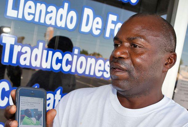 Ebola-potilaan veli Wilfred Smallwood.