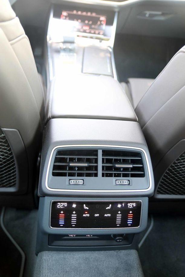 Takamatkustajat voivat säätää lämpötilat yksilöllisesti.