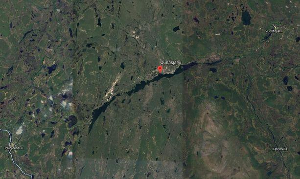 Ihmistä tai ihmisiä etsitään Ounasjärvestä.
