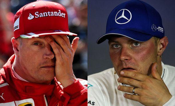 Kimi Räikkönen ja Valtteri Bottas ovat ajaneet läpi kauden kärkikahinoissa.