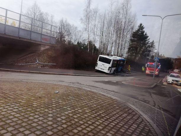 Onnettomuus tapahtui Kukkaniityntiellä.