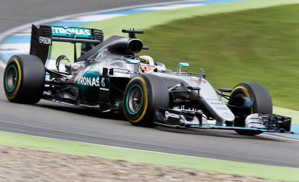 Lewis Hamilton oli Saksan GP:n ykkönen.