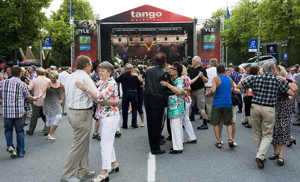 Seinäjoen Tangomarkkinat ovat parhaillaan käynnissä.