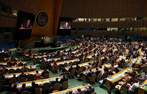 Ruotsin turvallisuusneuvoston jäsenyydestä päätti YK:n yleiskokous.
