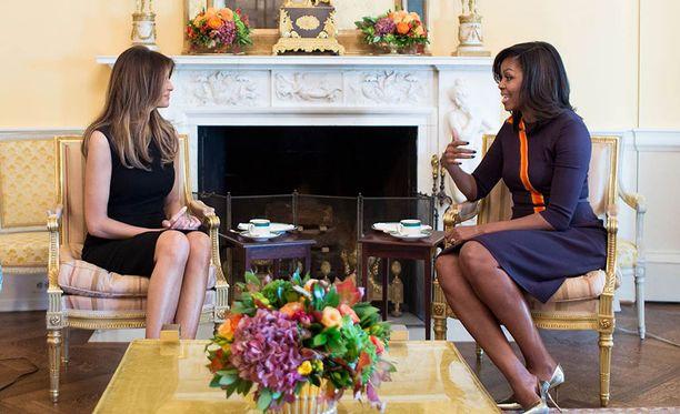 Melania Trump ja Michelle Obama tapasivat Valkoisessa talossa muutama päivä sitten.