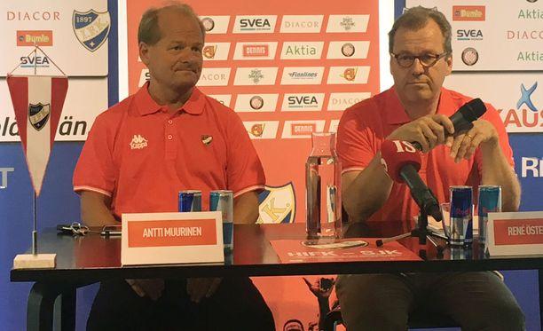 Antti Muurinen asteli tänään ensimmäistä kertaa lehdistön eteen HIFK:n päävalmentajana.