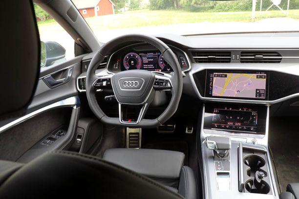 Uusi Audin ohjaamo näyttää tältä: isot kosketusnäytöt ovat korvanneet painikkeita.