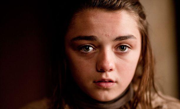 Arya Stark suositussa Game of Thrones-sarjassa.