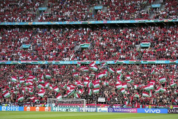 Puskas Arena Budapestissä on ollut täynnä faneja EM-kisoissa.