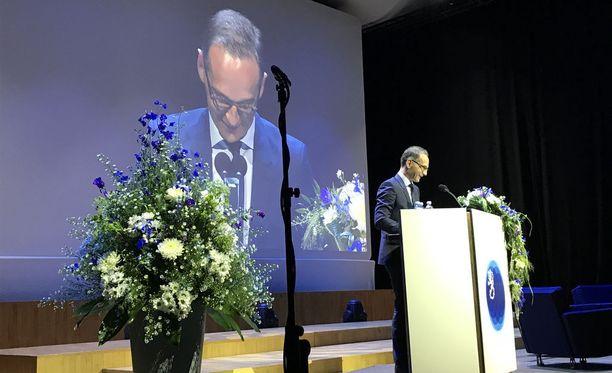 Juhlapuheessaan ulkoministeri Heiko Maas korosti Suomen ja Saksan hyviä suhteita.