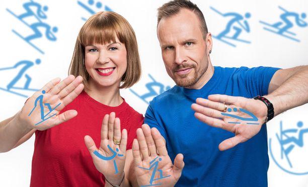 Kristiina ja Mikko Kekäläinen vetivät Korea tunnissa -ohjelmaa.