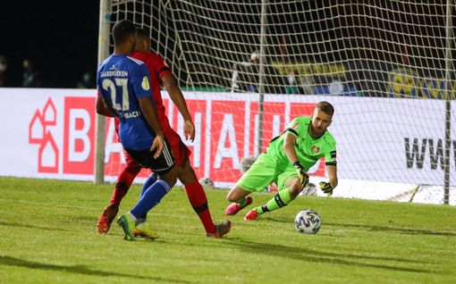 Lukas Hradecky kolmatta kertaa Saksan cupin finaaliin - Leverkusen pysäytti sensaatioseuran