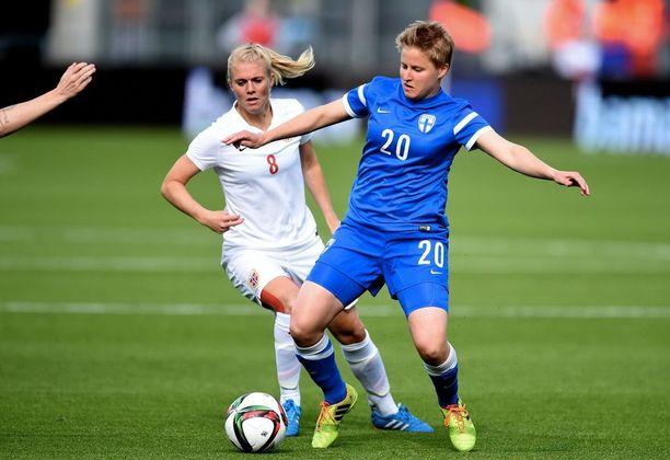 Linda Ruutu pelaa myös Suomen maajoukkueessa.