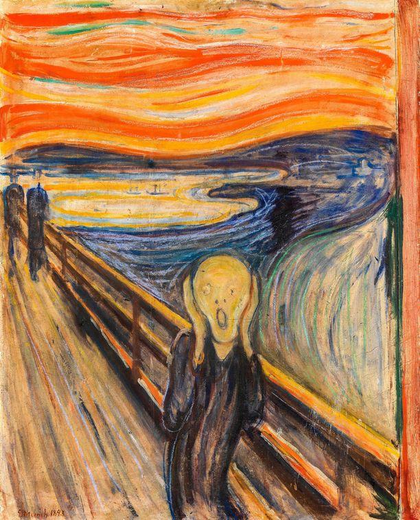 Huuto symboloi eksistentiaalista ahdistusta.