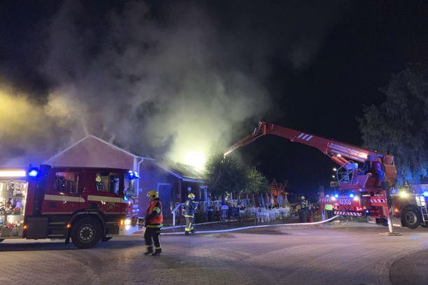 Ravintola syttyi palamaan Loviisassa tiistain vastaisena yönä.