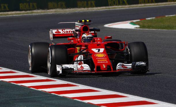 Kimi Räikkönen ei ollut tyytyväinen vauhtiinsa.