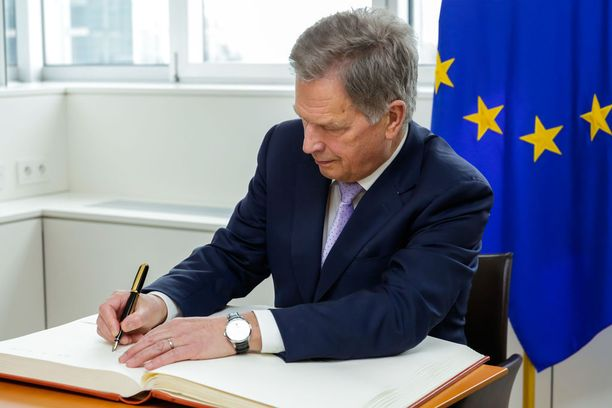 Tasavallan presidentti osallistui EU-johtajien tapaamiseen Brysselissä keskiviikkona.