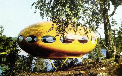 """Tältä tulevaisuuden piti näyttää - """"ufotalo"""" ja scifi-utopia villitsivät 60-luvulla"""