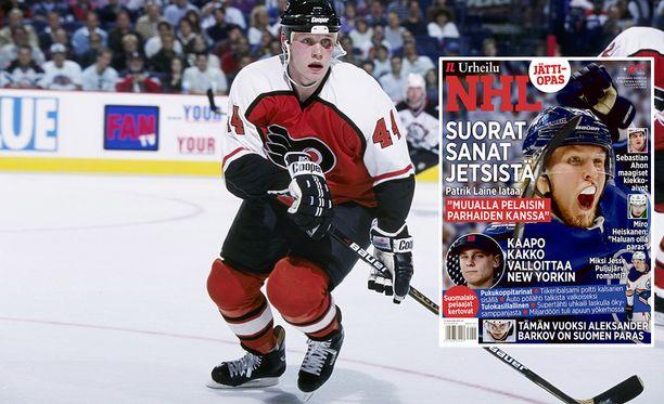 Janne Niinimaan NHL-ura alkoi Philadelphia Flyersissa vuonna 1996. Hänen tarinansa voit lukea Iltalehden tuoreesta NHL-erikoislehdestä.