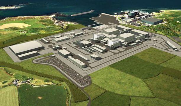 Ydinvoimalaitoksen kahden yksikön oli tarkoitus tuottaa sähköä 2 900 megawatin teholla. Havainnekuva.