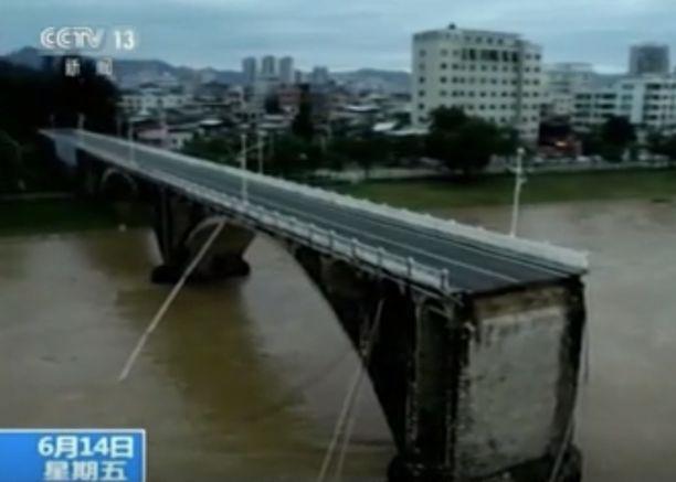 Heyuanin kaupungissa sattuneen siltaonnettomuuden jäljiltä kateissa kaksi.