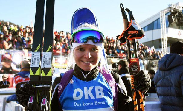 Mari Laukkanen tienasi voitostaan 13 000 euroa.
