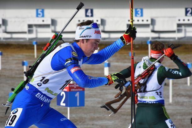 Tero Seppälä ampui kolme sakkoa kahdellakymmenellä laukauksella torstaina Sloveniassa.