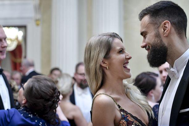 Jitka Novackova ja Tim Sparv Linnan juhlissa 2019.