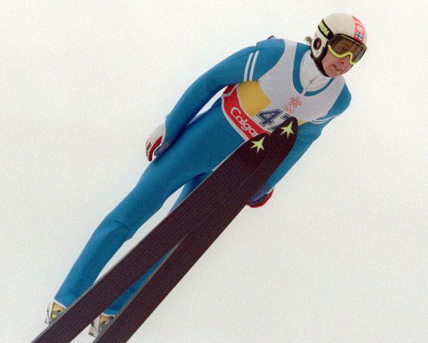Matti Nykänen saavutti urahuippunsa Calgaryn Olympialaisissa vuonna 1988.