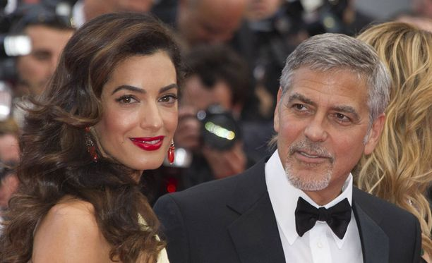 Amal ja George Clooney Cannessin elokuvafestivaaleilla toukokuussa.