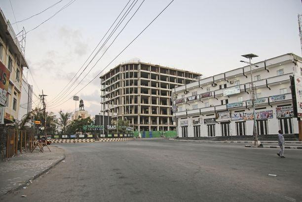 Kriisinhallintakeskuksen mukaan Somaliassa työskentelee kaksitoista suomalaista asiantuntijaa. Kuvituskuva pääkaupunki Mogadishusta.