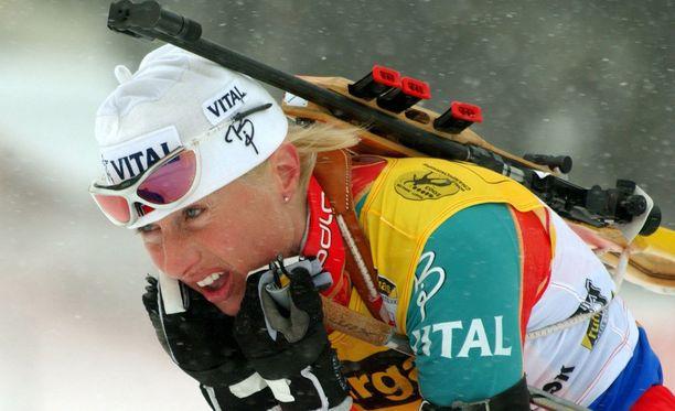 Gunn Margit Andreassen voitti urallaan kaksi olympiamitalia ja kuusi MM-mitalia.