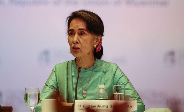 Aung San Suu Kyi on Nobelin rauhanpalkinnon saanut demokratia-aktivisti.