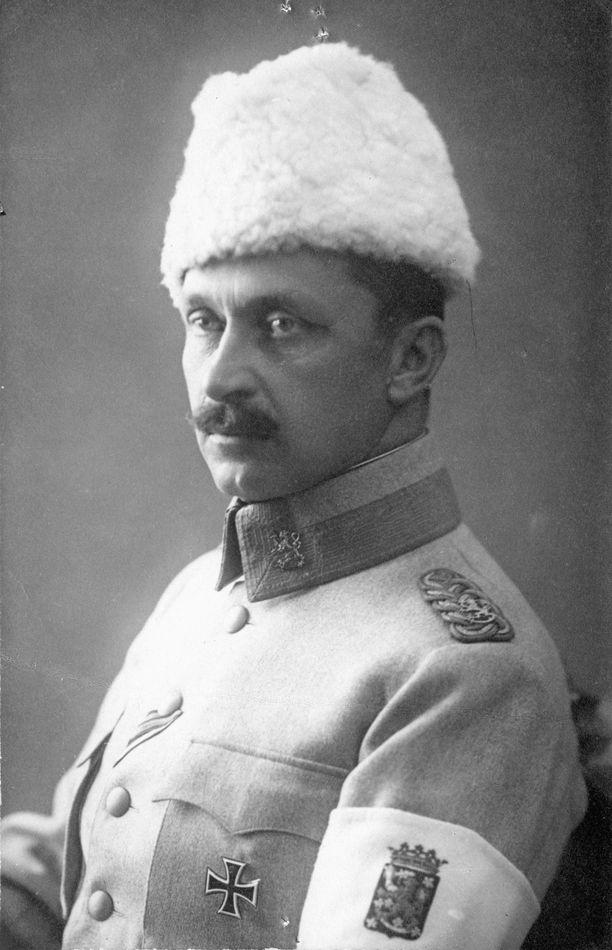Gustav Mannerheim kuvattuna todennäköisesti vuoden 1918 aikoihin.