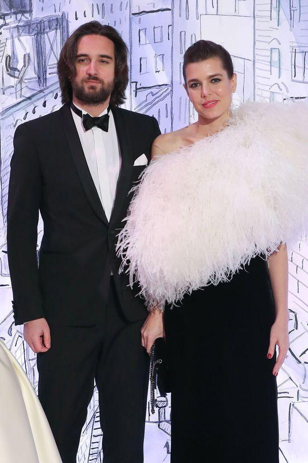 Charlotte Casiraghi ja hänen puolisonsa Dimitri Rassam Monacossa maaliskuussa 2018.