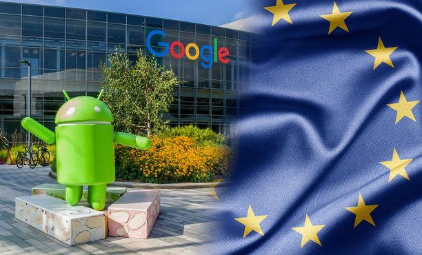 EU ja Google ovat napit vastakkain.