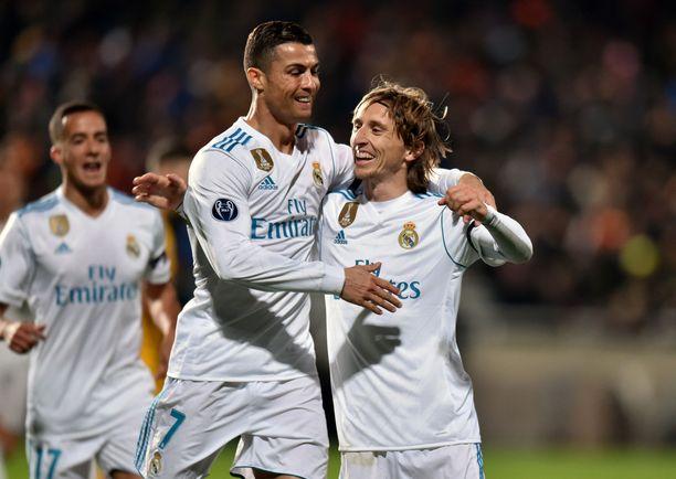 Luka Modric ja Cristiano Ronaldo eivät enää juhli maaleja yhdessä.