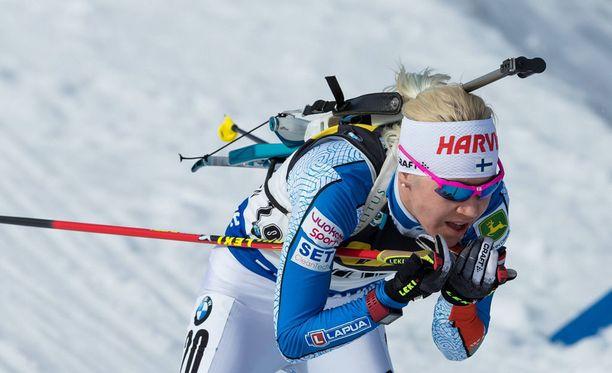 Kaisa Mäkäräinen sanoi olevansa iloinen Mari Laukkasen menestyksestä.