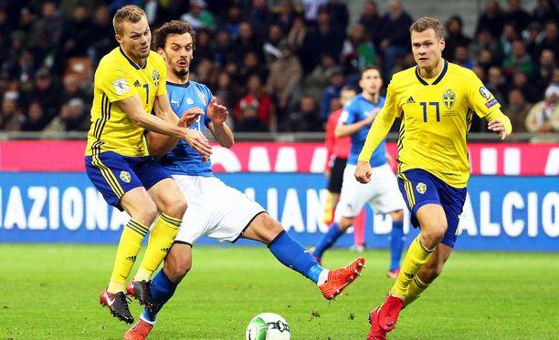 Ruotsi ja Italia pelaavat MM-paikasta.